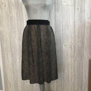 Ecote High Waist A-Line Work Skirt 4